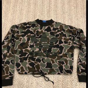 Adidas camo crop sweatshirt
